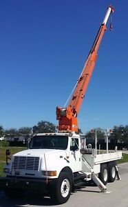 Altec D947 tr 7 Ton 47 Crane 1998 International 4900 Flatbed Dt466 Diesel