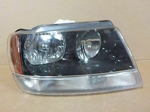 Black Passenger Right Oem Jeep Grand Cherokee 99 04 Headlight 9567 Rm grade