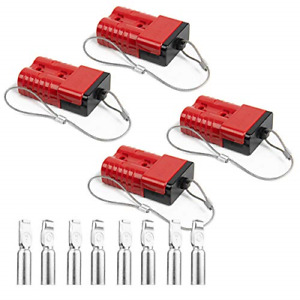 Hyclat Red 2 4 Gauge Battery Quick Connect disconnect Wire Harness Plug Recovery