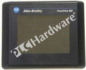 Allen Bradley 2711 t6c2l1 b Panelview 600 Color Touch Screen Dh 485 Scratches
