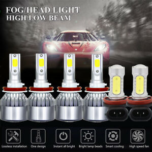 For Jeep Grand Cherokee 2017 2018 Cob Led Headlight Kit Fog Light 6500k White 6x