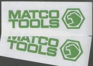 2 Matco Tools 6 Lime Green Decals Stickers For Toolbox Trucks Windows
