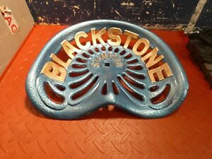 Tractor Seat Vintage Cast Iron Blackstone Implement Farm Antique
