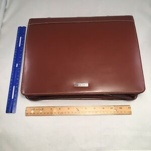 Day Runner Portfolio Planner Large 7 Ring Scheduler Notebook Leather 13 Inch