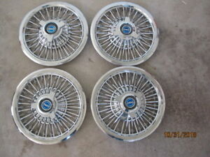 1965 1966 Ford Galaxie 15 Hubcaps Nice Condition Very Rare Find