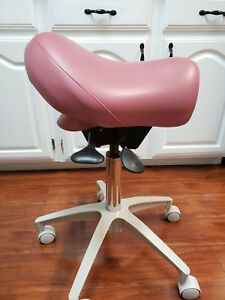 Crown Seating Mint Condition Saddle Chair Stool Bambach Dental