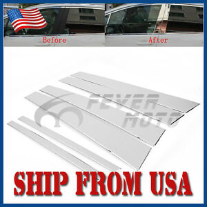 Us Stainless Steel Side Door Window Pillar Post Trims For Honda Accord 08 12 Fm