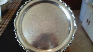 Vintage F B Rogers Silverplate Cake Stand Pedestal Cake Stand Plate Fb Rogers