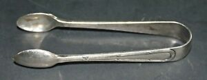 Sugar Cube Tongs Silver Plate Unmarked