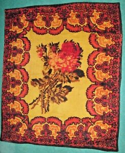 Antique Horse Hair Buggy Sleigh Blanket Carriage Lap Robe 60 X 48 Victorian Rose