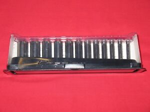 Snap on Tools 1 4 Drive Deep Metric Chrome Sockets 5 15mm In Magnetic Tray