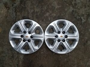 Pair New 2009 10 11 12 2013 Traverse 17 Hubcaps Wheel Covers Free Shipping 3284