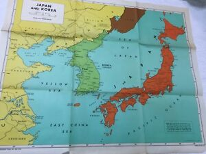 Vintage 1948 Japan Korea Friendship Press Inc Political Map