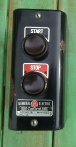 Vintage General Electric Start Stop Electric Switch Control Art Deco 135