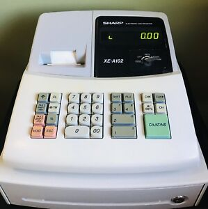 Sharp Electronic Cash Register Xe a102 Works Great Read