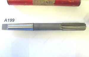 Nos Vintage Cleveland 15 16 9375 Hss Taper Shank Chucking Reamer Made In Usa