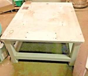 1 Steel Fab Machine Welding Layout Table Work Bench 48 x38 x19 1 Thick Top