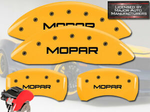 2011 2019 Dodge Charger Rt Front Rear Yellow Mgp Brake Disc Caliper Covers Mopar