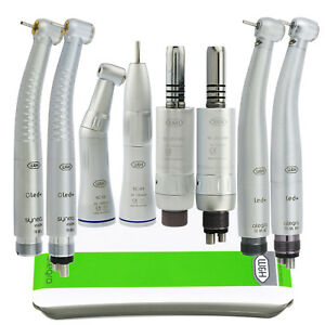 W h Type Dental Led High Low Speed Inner Water Contra Angle Air Motor Handpiece