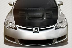 Civic 4dr Dritech Supremo Hood 1 Piece Fits Jdm Honda 06 11 Carbon Creation