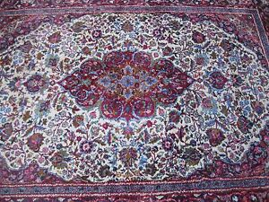 Exceptional Vintage Persian Rug Hand Woven Beauty Good Condition