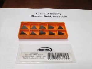 Pack Of 10 Hertel Tpg 332 Ht10 Carbide Turning Inserts 3 16 Thick 1 32 Rad