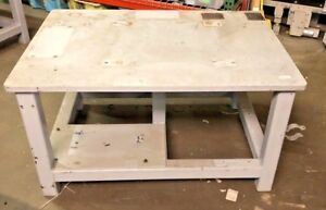 1 Steel Fab Machine Welding Layout Table Work Bench 48 x35 x25 1 Thick Top