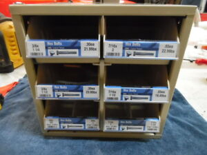 Hillman Hardware Usa Storage Cabinet 6 Drawer Steel Organizer Nuts Bolts