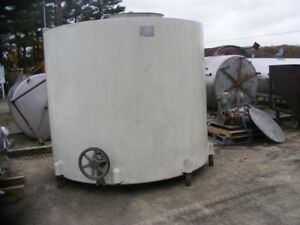 Used 2 000 2 150 Gallon Stainless Steel Jacketed Mixing Tank