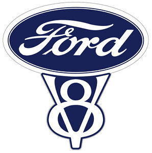 Vintage Ford V8 Decal 3 In Size Free Shipping