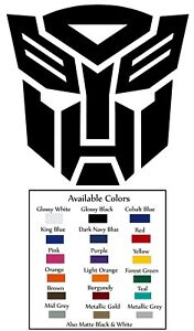 Transformers Autobot Decal Sticker Self Adhesive Vinyl
