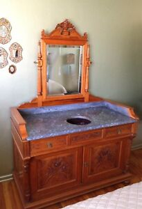 Antique Washstandsink Readymarble Top And Mirror