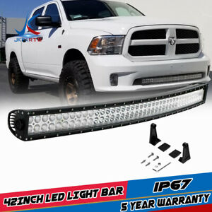 42inch Curved Led Light Bar Combo For Jeep Dodge Ram Offroad Suv Vs Tri Row 40