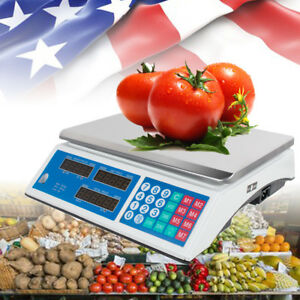 Digital Weight Scale Price Computing Retail Food Meat Scales Count Scale Market