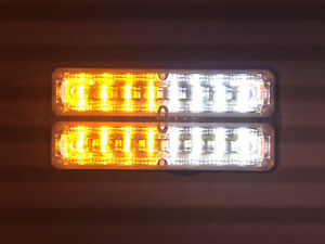 Dual Row 16 Led Grille Light Side Marker Warning tow Truck Wrecker Police Car