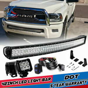 For 2003 2018 Dodge Ram 1500 Express 40 42 Led Light Bar Front Lower Bumper 52