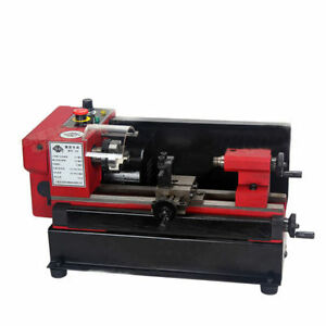 220v Mini Metal Processing Machine Metal Lathe W 65mm 3 jaw Chuck 150w