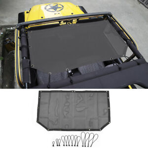 Sun Shade Mesh Bikini Top Half Cover For 1997 2006 Jeep Wrangler Tj 2 door Black