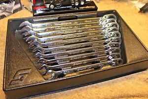 Snap On 12 Point Metric Speed Open End Ratcheting Box Wrench Set 10 19m