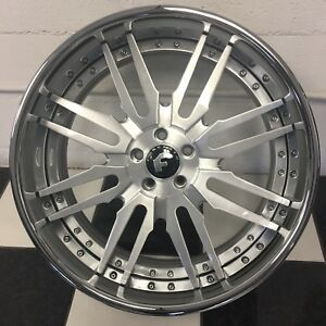 22 Inch Forgiato Rims Bentley Gt Chrome Lip With Silver Brushed Centers