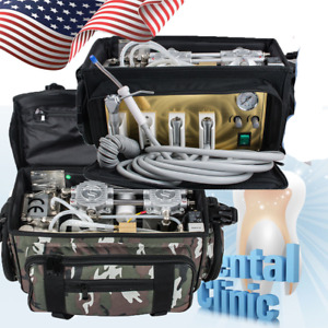 Portable Dental Unit With Air Compressor Bag Suction System Oral Care Machine Ce