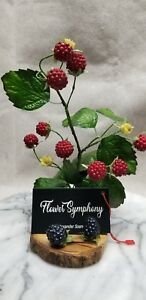 Unique Business Card Display Holder stand with Red Berries