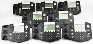 Lot Of 8 Polycom Soundpoint Ip550 Sip 4 line Hd Voice Ip Business Phone