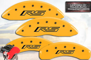 2016 Chevy Camaro rs Front Rear Yellow Engrave Mgp Brake Disc Caliper Covers