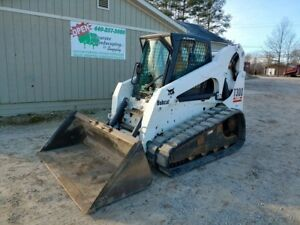 Bobcat T300 Track Skid Steer Loader Cab Heat A c