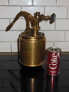 Antique Large Brass Capital Brass Works Force Feed Lubricator Steam Hit And Miss