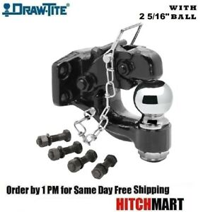 Pintle Hook Trailer Hitch Combo W 2 5 16 Ball 16 000 Lbs Gtw 63012