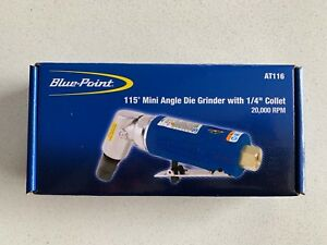 new Blue point 115 Mini Angle Die Grinder With 1 4 Collet 20 000 Rpm At116