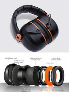 Ear Protection Muffs Construction Safety Noise Reduction Adjustable Soft