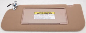 New Old Stock Ford Aerostar Left Sun Visor E79z 1604105 Aaa Chestnut Lighted